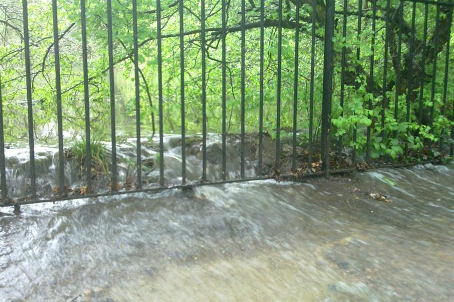 Overtopping in May 2010 - Stock Pond