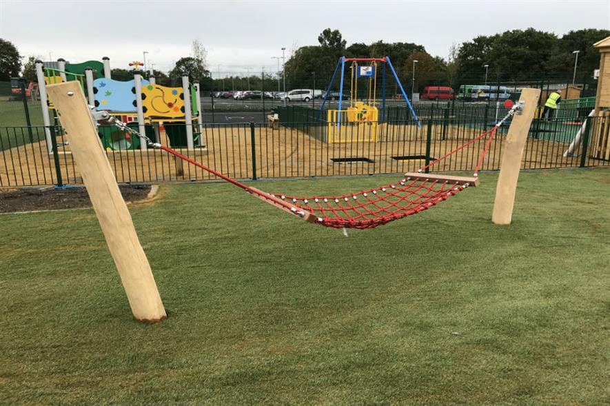 The finished playground at Glenwood School. Image: Sutcliffe Play