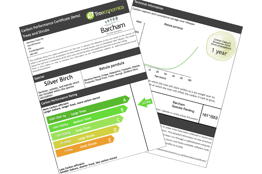 Treeconomics calculated the ratings based on data collected using software platform i-Tree Eco - credit: Treeconomics