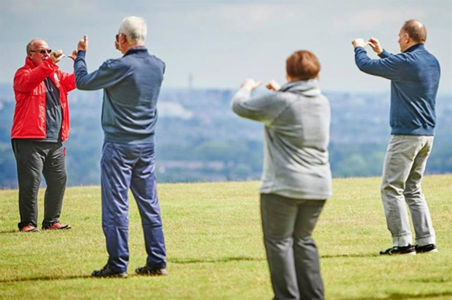 Tai Chi group at Lickey Hills Country Park. Image: City of Birmingham Council