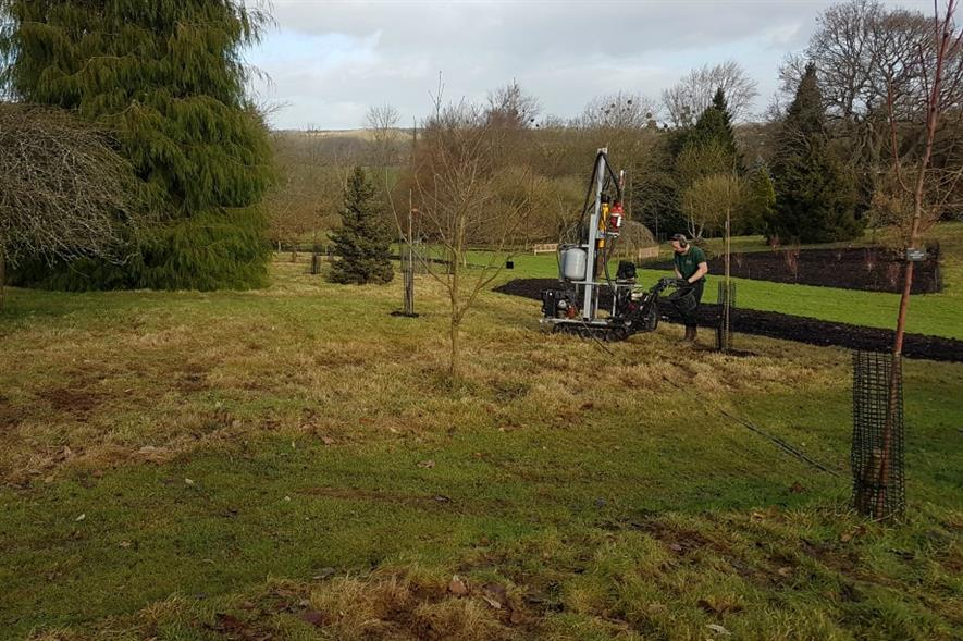 Aeration in action at Sir Harold Hillier Gardens. Image: Terrain Aeration