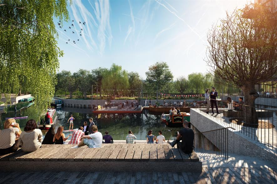 The Brentford Project waterfront transformation - credit: Grant Associates