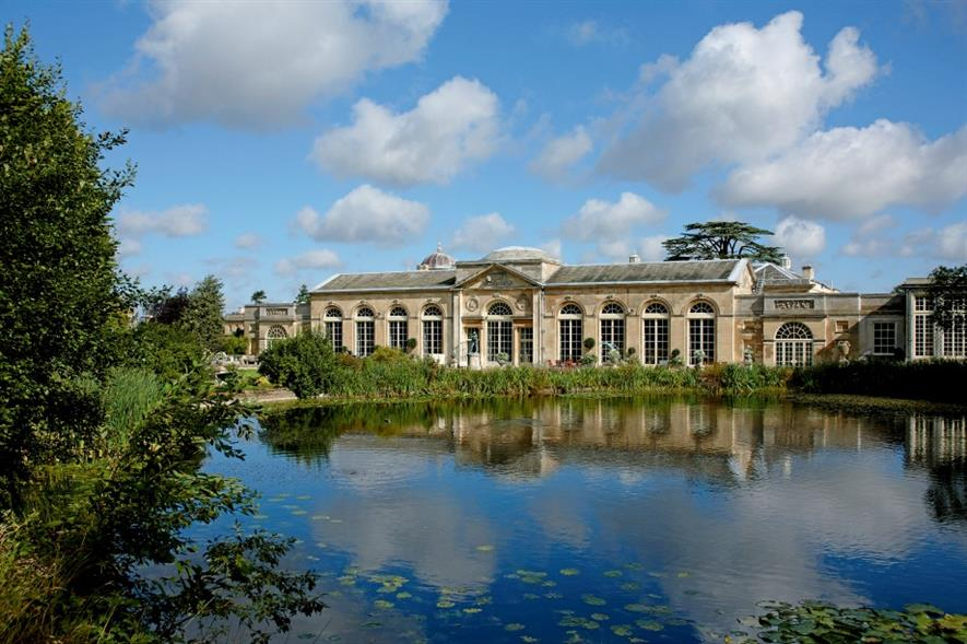 View of the Sculpture Gallery from Camelia Lake. Image: Woburn Abbey