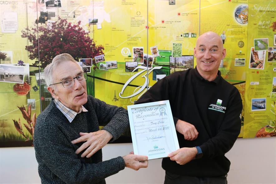 John Richardson and Tony Coles - credit: Johnsons of Whixley