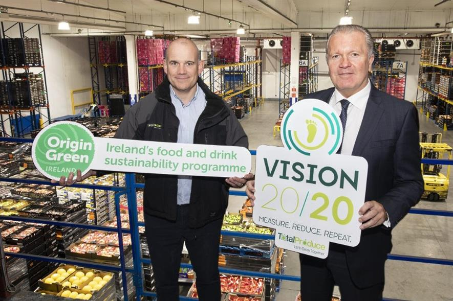 Total Produce Ireland & UK regional facilities manager Conor Keown (left) and Total Produce Ireland MD Des McCoy - image: Total Produce