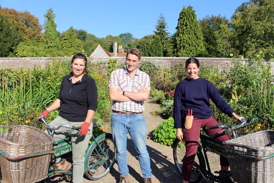 West Dean Gardens' trainee horticulturalists 2019 - image: West Dean Gardens