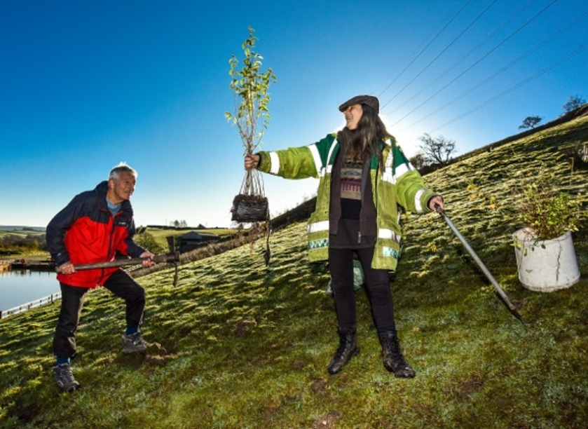 Trees are in the front line in the battle against climate change. Image: Yorkshire Water