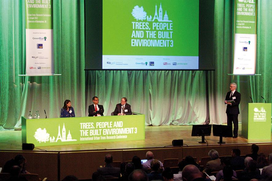 Conference: Institute of Chartered Foresters' Trees, People & The Built Environment 3 event held in Birmingham - image: HW