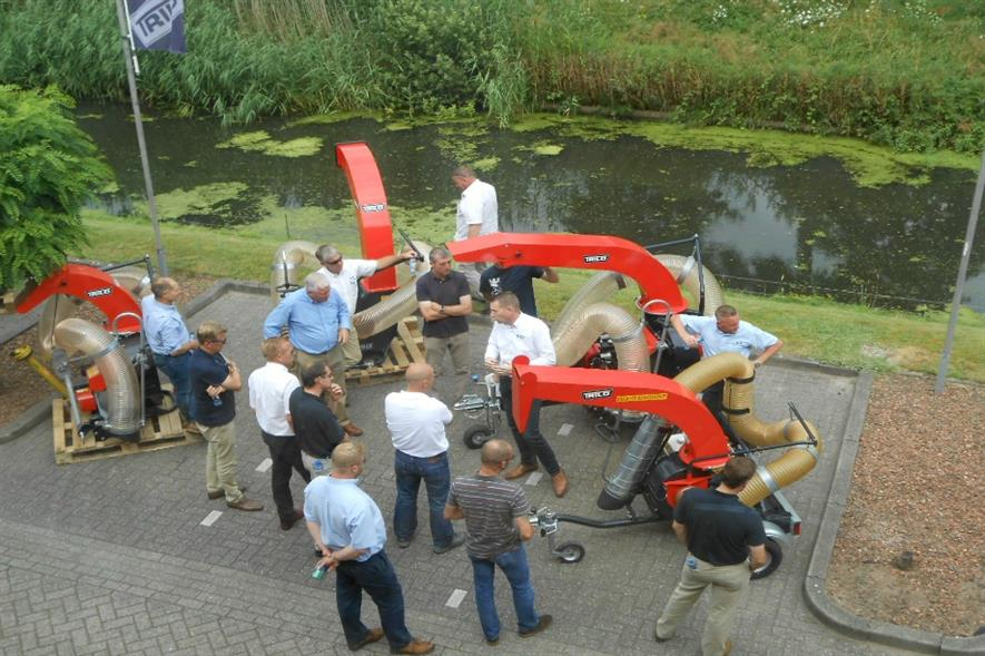 Ernest Doe staff in training at Trilo in The Netherlands