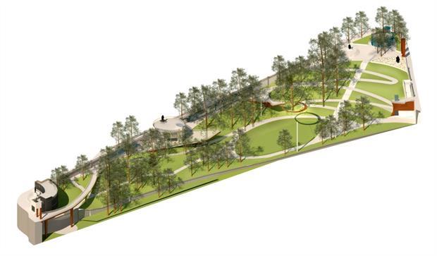 LDA Design's vision for a new 21st Century Union Terrace Gardens. Image: LDA Design