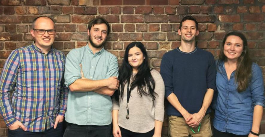 New starters from left to right: Mark Evans, Jack Tibbs, Demi Burns, Michael Garrett, Rosie McEwan. Image: Urban Green