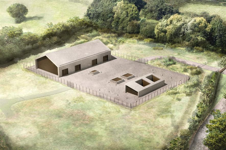 The headhouse has been designed to fit in with the surrounding landscape - credit: HS2