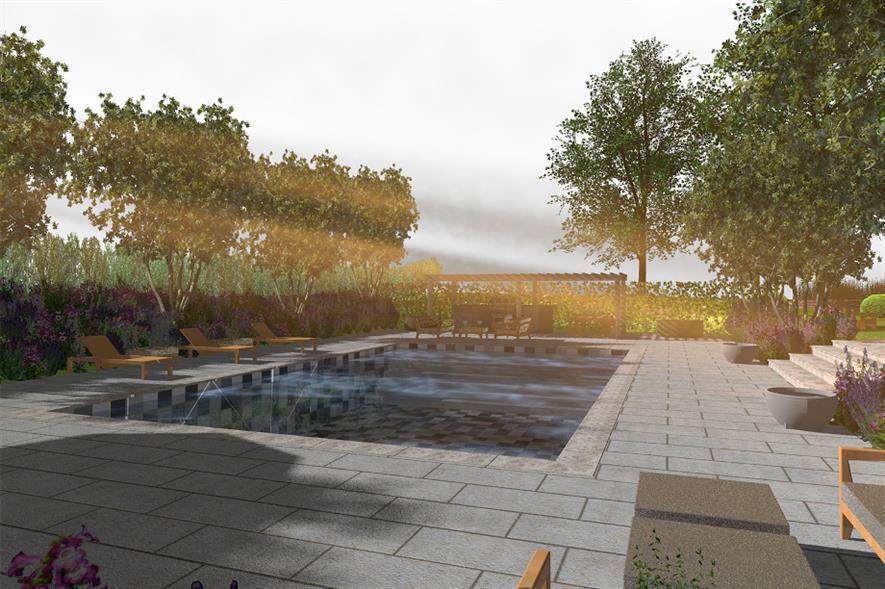 Pool area designed using Vectorworks UK software - credit: BALI
