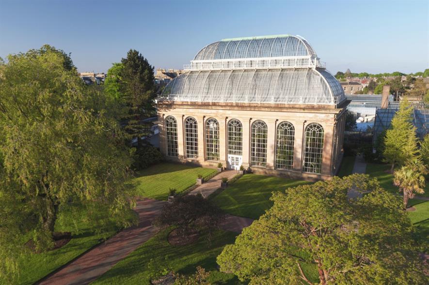 Victorian Temperate Palm House at Royal Botanic Gardens Edinburgh - image: RBGE