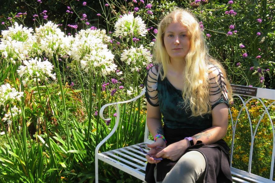 Violet Gibbs in the Lost Gardens of Heligan. Image: Violet Gibbs