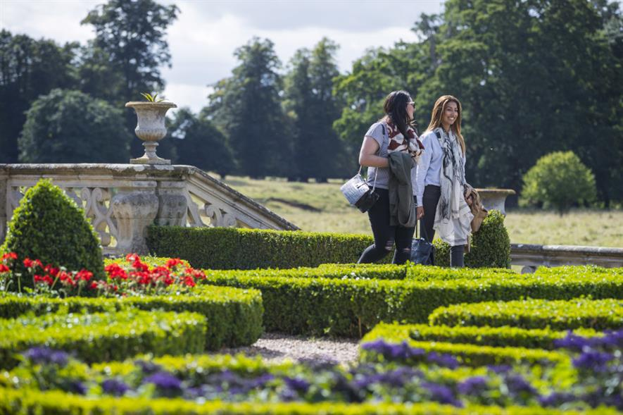 Visitors exploring the garden at Charlecote Park, Warwickshire - credit: National Trust Images/Chris Lacey