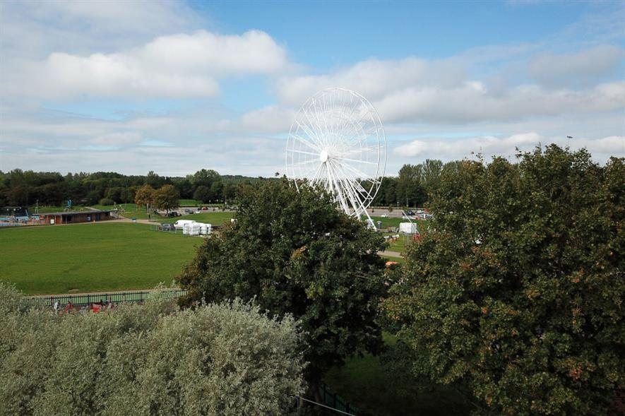 The Willen Observation Wheel at Willen Lake - credit: The Parks Trust