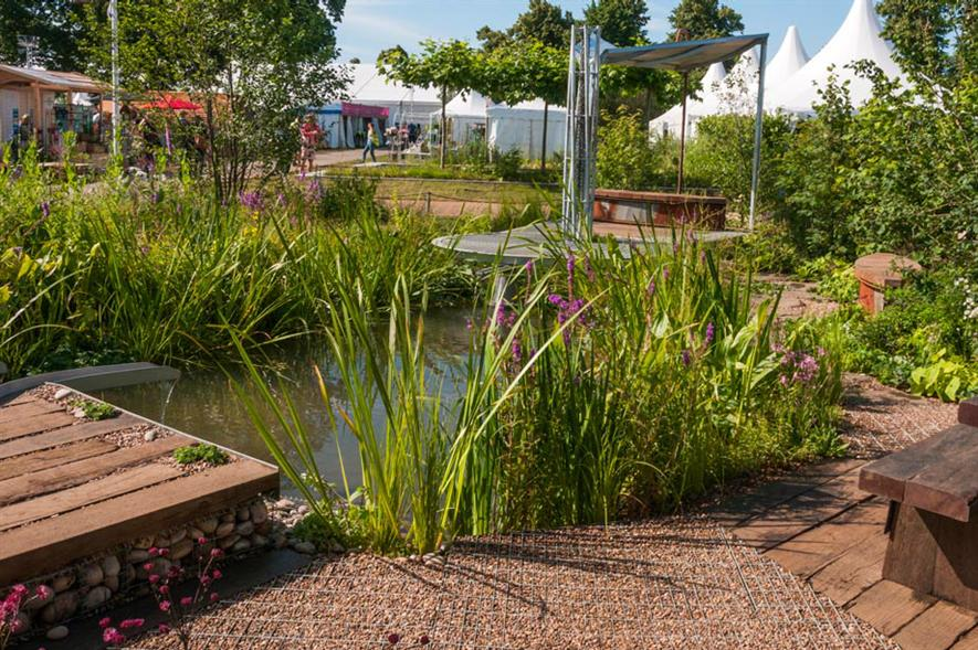 The WWT Working Wetlands Garden. Image: RHS