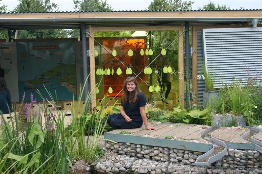 Jeni Cairns, Best Show Garden winner at Hampton Court. Image: Supplied