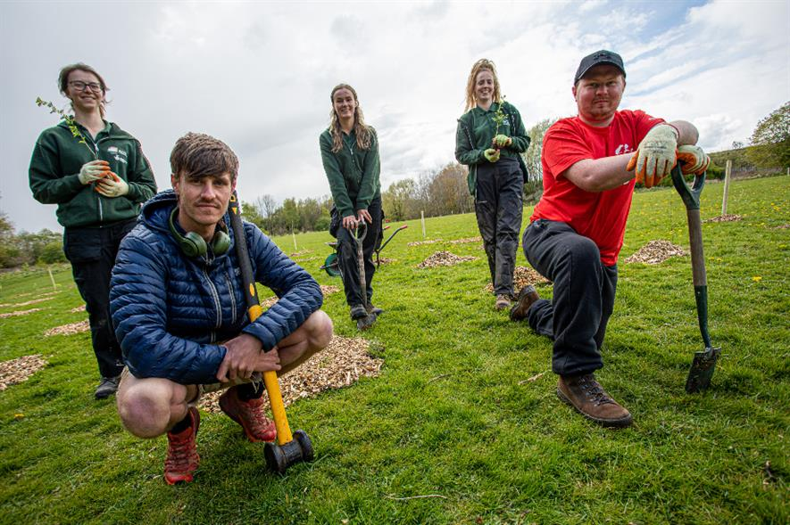 Veterans Chris and Adam from Walking With The Wounded planting with City of Trees - credit: Mark Lupton