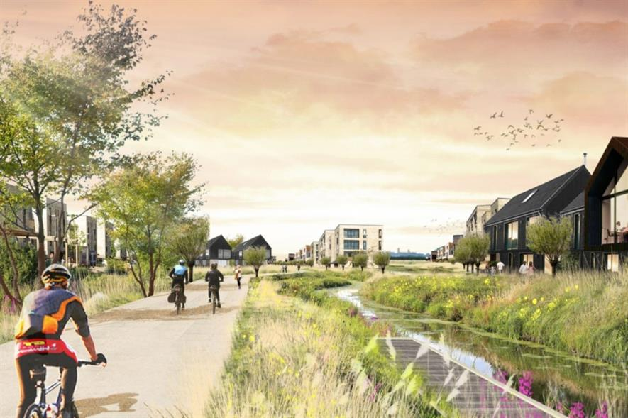 LDA Design's vision for Waterbeach. Image: LDA Design
