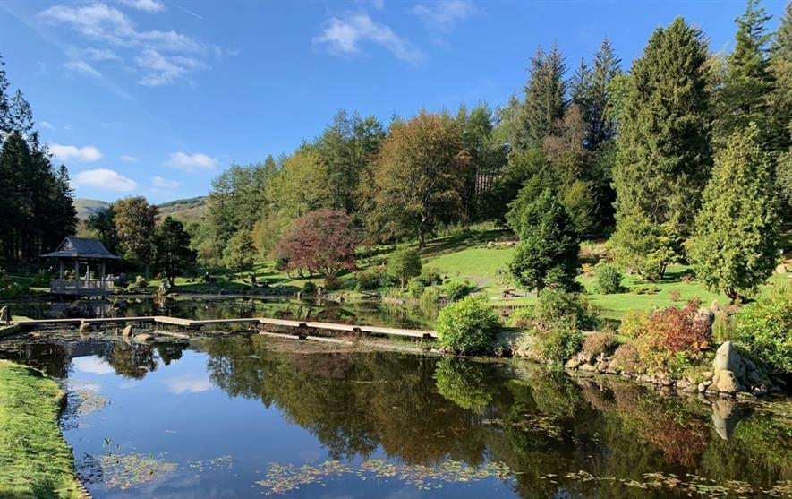 The Japanese Garden at Cowden Castle