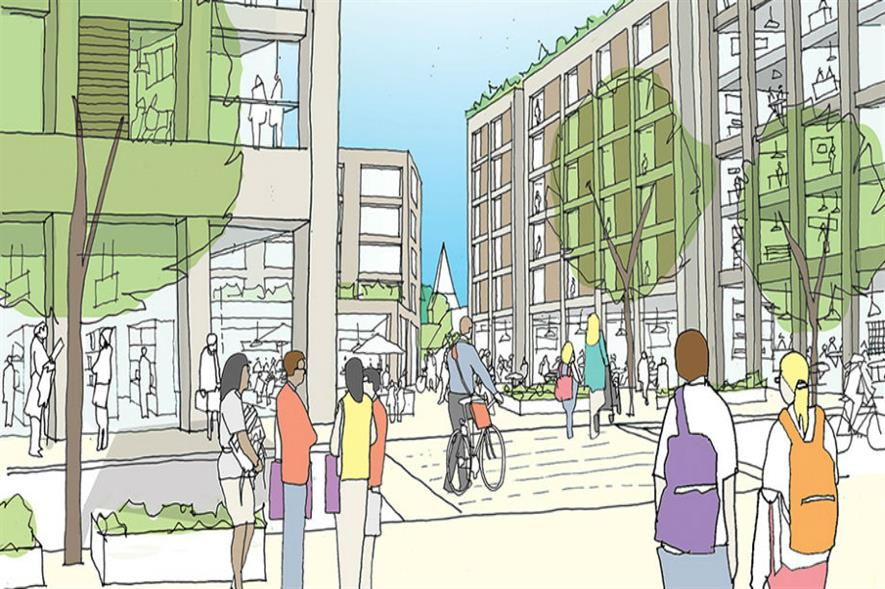 An artist's visualisation of the finished West Byfleet scheme. Image: Altitude