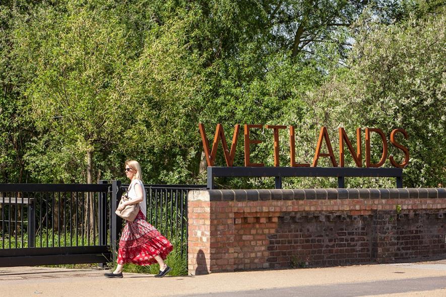 Entrance to Walthamstow Wetlands