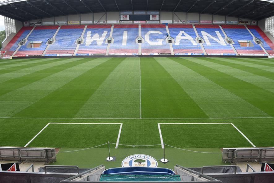 Wigan DW Stadium. Image: Supplied