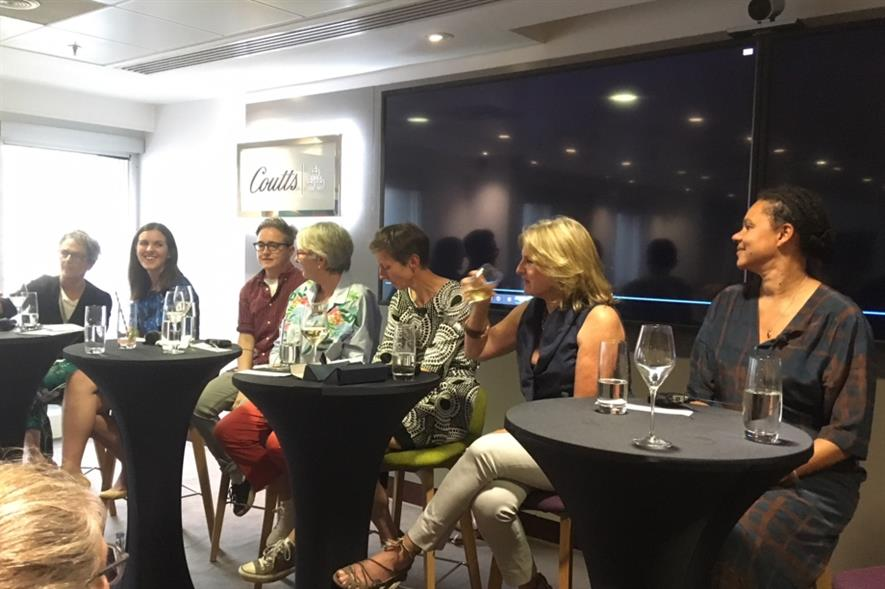 The all-female panel at Open Garden Squares' event. Image: HW