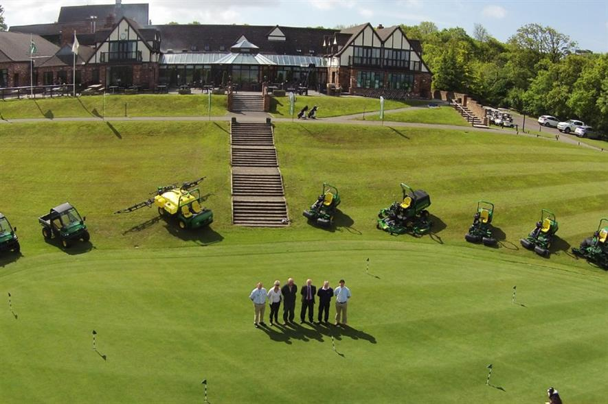 Part of the new John Deere fleet at Woodbury Park GC. Image: Supplied