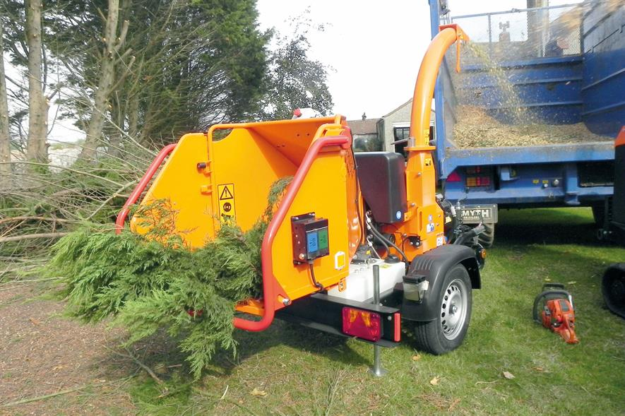 Timberwolf TW 160PH woodchippers - image: HW