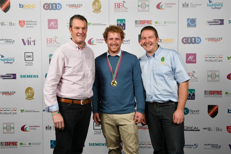"""Winner Botting (centre) """"The competition has been stressful but thoroughly enjoyable"""""""