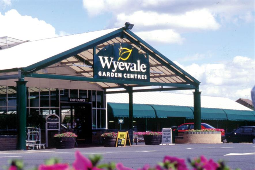 Wyevale: programme has seen 78 centres refurbished