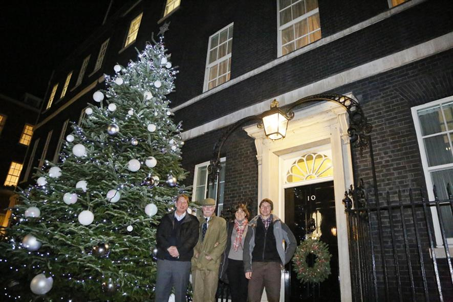 (left to right) The Tree Barn manager Gary Welford, Andrew Ingram, Jane Ingram and Michael Weizer