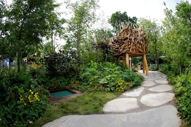 The Zoflora and Caudwell Children's Wild Garden, designed by Adam White and Andrée Davies. Image: RHS