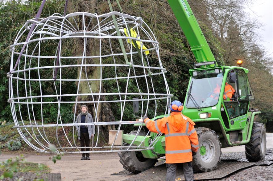 Giant pumpkin installation at Chatsworth
