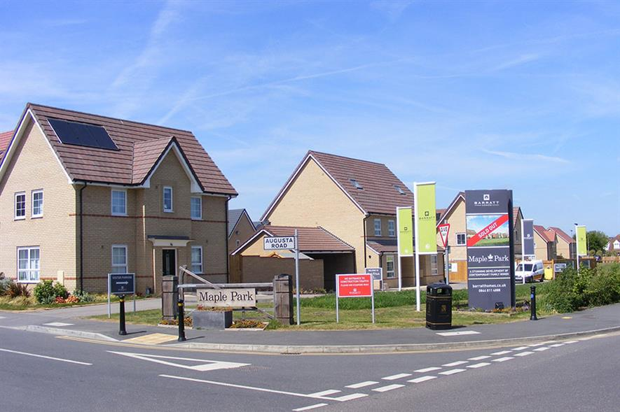 Barratt Homes' Maple Park development. Image: Sludge G/ Flickr