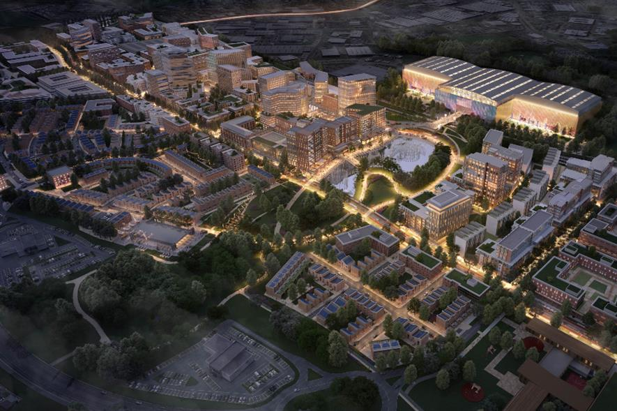 Design rendering for Brabazon Park in North Bristol - credit: GA/YTL