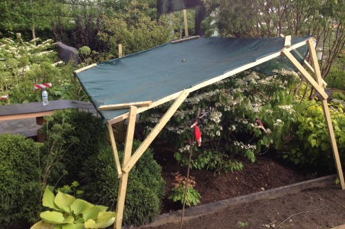 Carpentry is one of many skills in the landscaper's toolbox in Matt Childs' garden built by Bowles & Wyer
