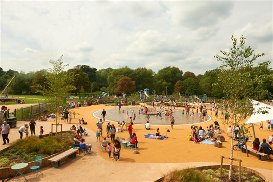 Cassiobury Park in Watford has returned to the top 10. Image: Watford Borough Council