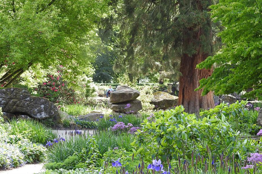 The Rockery, Chatsworth, where Gucci funding is paying for a new landscape. Image:  Chatsworth House Trust