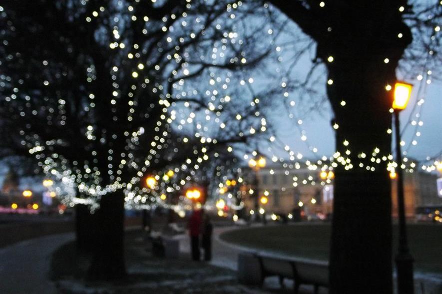 Christmas street lights. Image: Pixabay