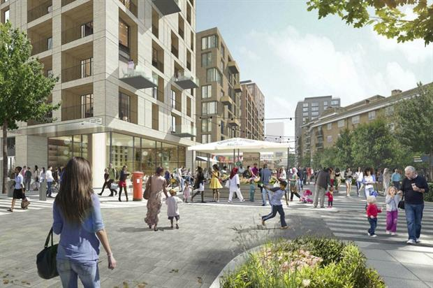 CGI showing increased public realm in Church Street area of Westminster. Image: Westminster City Council