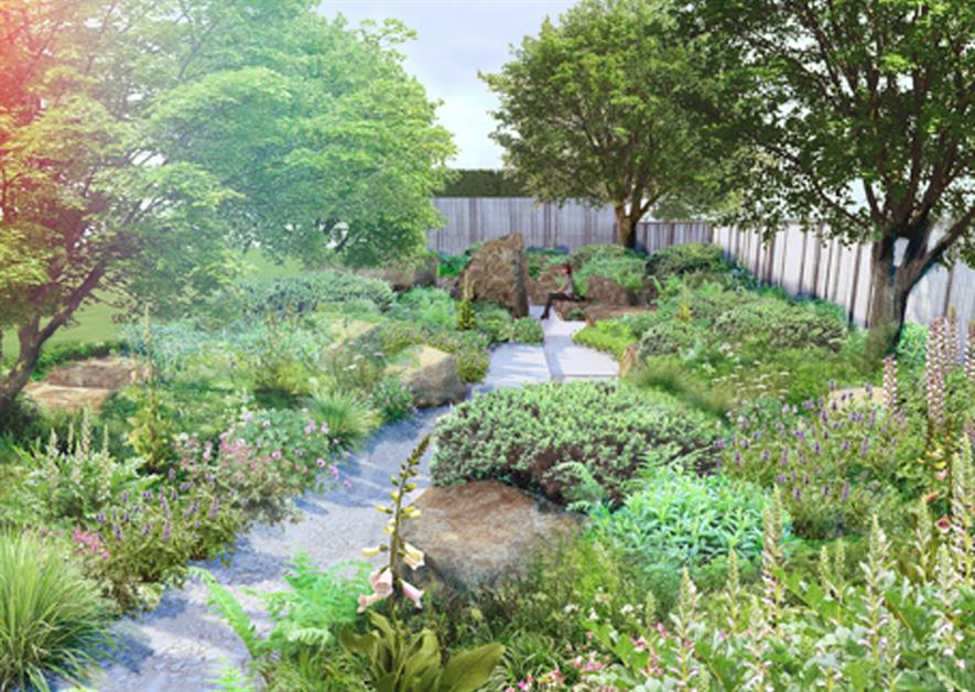 Cleve West's planned Chelsea garden for M&G. Image: Supplied