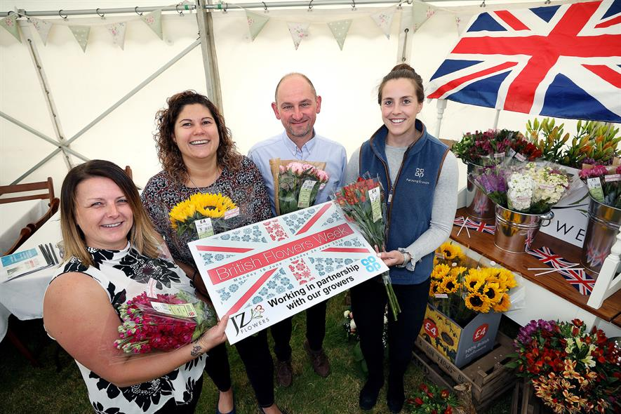 Debbie Mayhew (JZ Flowers), Kathryn Camps (Co-Op), Matthew Naylor (Naylor Flowers) and Isobel Anstey (Co-op.)