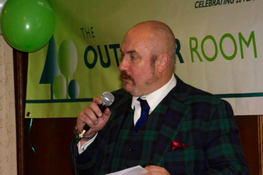David Dodd speaks at The Outdoor Room's 20th anniversary. Image: Supplied