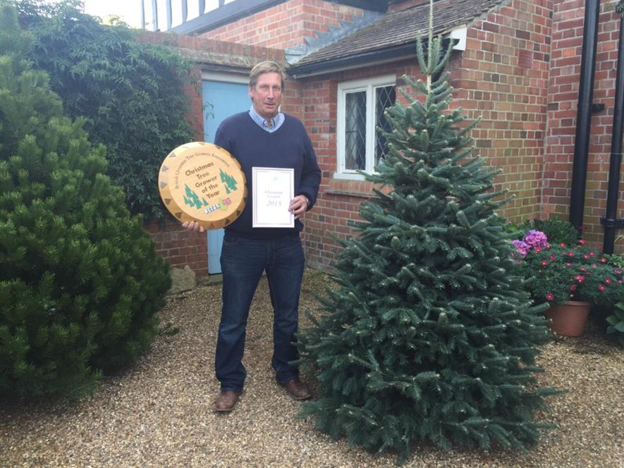 Gary Walford with winning tree