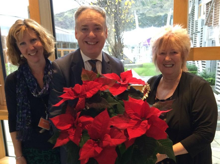 Carolyn Spray, Richard Lochhead MSP and Christine Grahame MSP