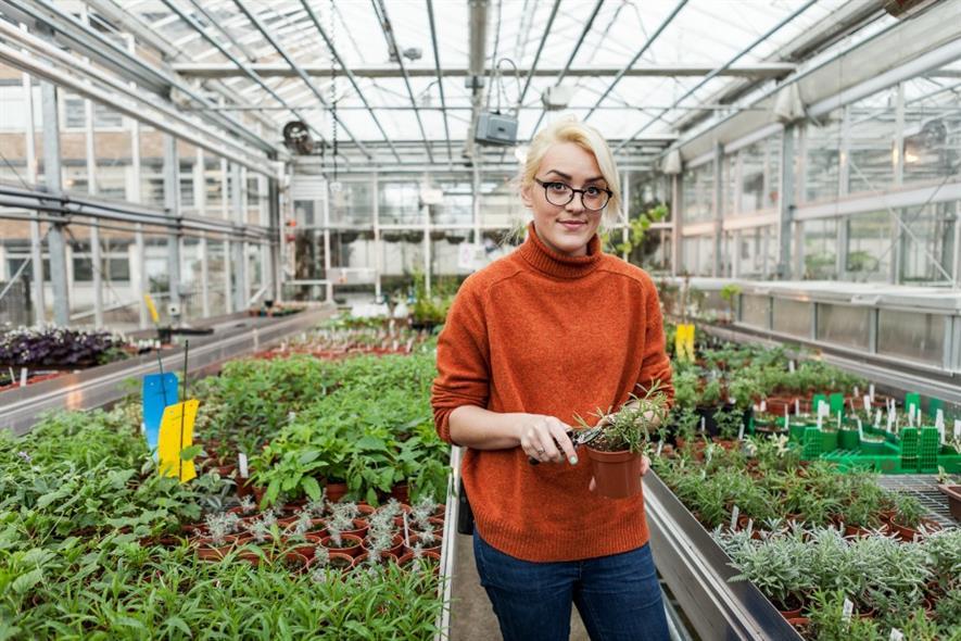 Cambridge University Botanic Garden technician Sally Hughes